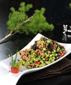 碧绿榄菜拌鸟胗 - 找菜图