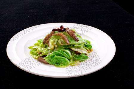 虾扒肉炒圆白菜 - 找菜图