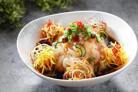 捞汁五彩蜇头瓜钱 - 找菜图