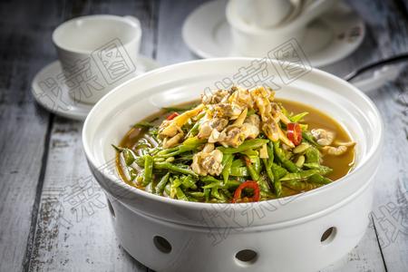 蚬肉芸豆粉丝煲 - 找菜图