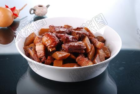 芥菜疙瘩压排骨 - 找菜图