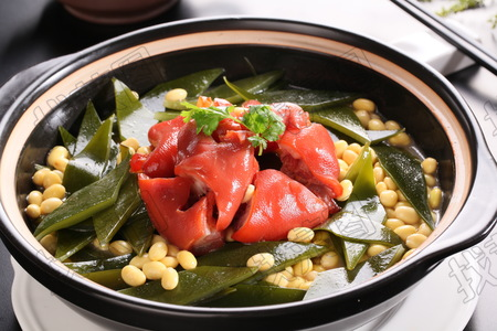 黄豆猪手炖海带 - 找菜图