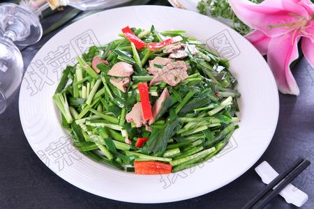 韭菜炒猪肝 - 找菜图