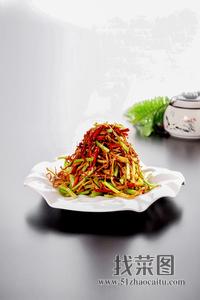 干煸茶树菇 - 找菜图