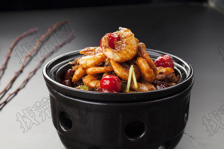 川式干锅香辣虾 - 找菜图