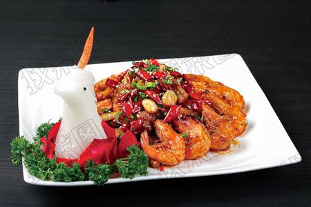 香辣排骨虾 - 找菜图