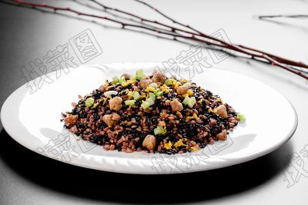 鹅肝黑米炒饭 - 找菜图