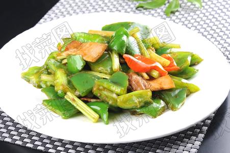 青椒芹菜炒肉 - 找菜图