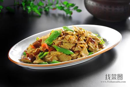 干豆腐卷炒辣妹子 - 找菜图