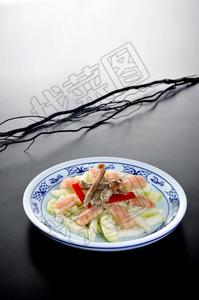 芥兰松茸菌酿虾 - 找菜图