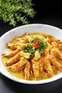 咖喱焗大虾 - 找菜图