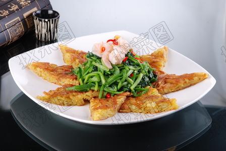 煎炒虾仁菠菜 - 找菜图