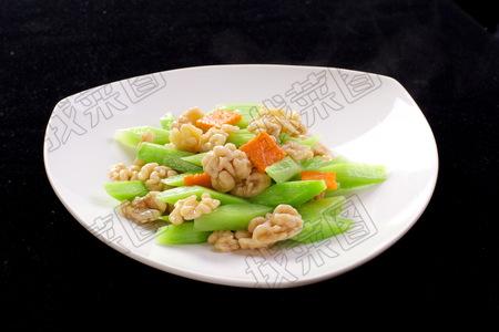 核桃仁炒芥兰 - 找菜图