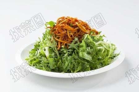 虫草花拌苦苣 - 找菜图