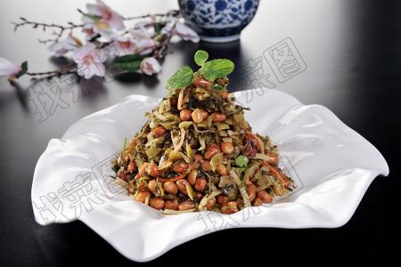 梅菜笋丝拌花生 - 找菜图
