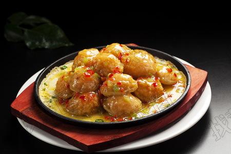 铁板鲜虾焗藕片 - 找菜图