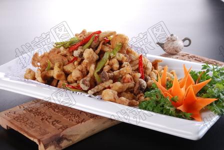 椒盐梅肉白玉菇 - 找菜图