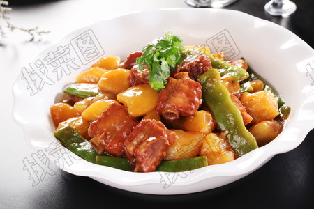 排骨土豆炖豆角 - 找菜图