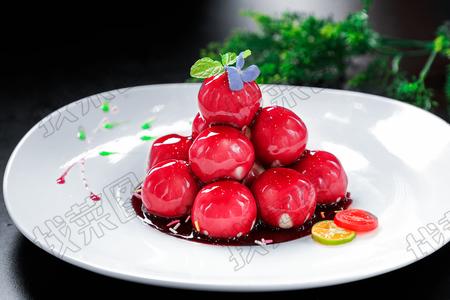 养生蓝莓山药 - 找菜图