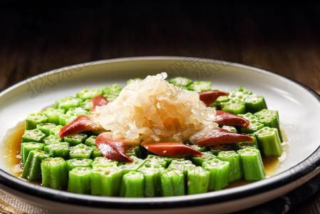 北极贝鲜汁秋葵 - 找菜图