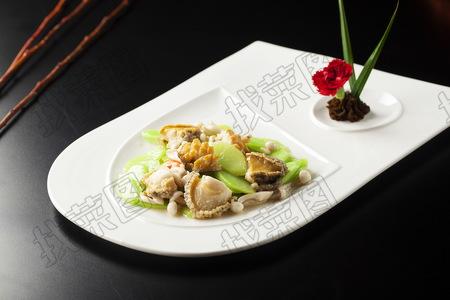 鲜鲍芥蓝白玉菇 - 找菜图