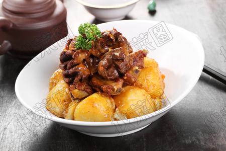 排骨鸡胗压土豆 - 找菜图
