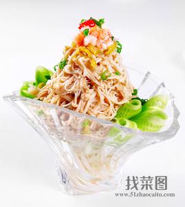 醋椒虾碎金针菇 - 找菜图