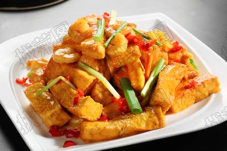 葱豆腐烧虾仁 - 找菜图