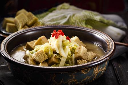 白菜炖冻豆腐 - 找菜图