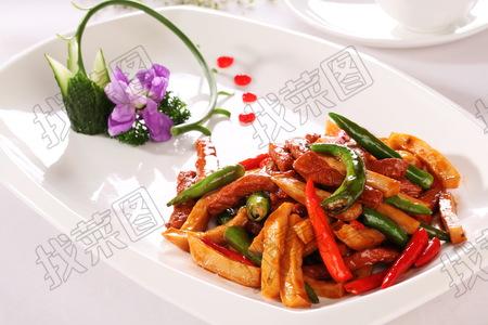 干迫杭椒鲍菇牛柳 - 找菜图