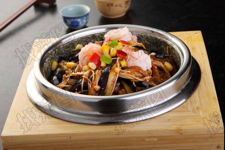 金针虾仁茄子煲 - 找菜图