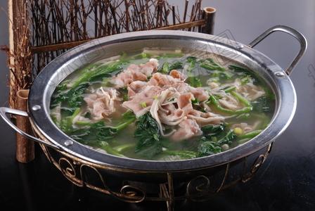 羊肉金针蘑菠菜锅 - 找菜图