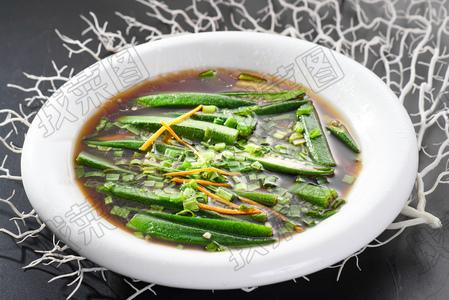 葱油秋葵 - 找菜图