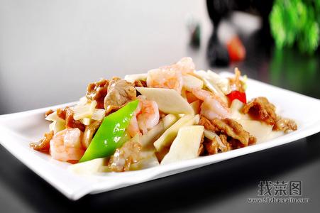 鲜虾里脊炒茭白 - 找菜图