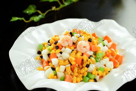 山药玉米虾  - 找菜图