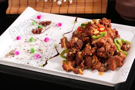 红椒炒香排 - 找菜图