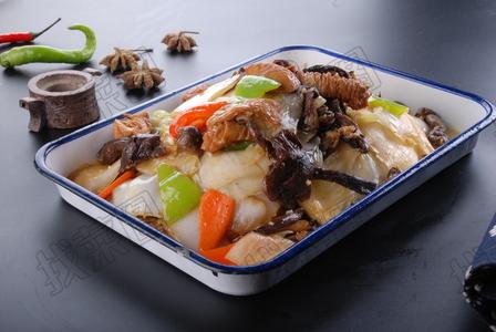 榛蘑炒肥肠白菜 - 找菜图